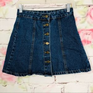 Dresses & Skirts - Denim front button mini skirt